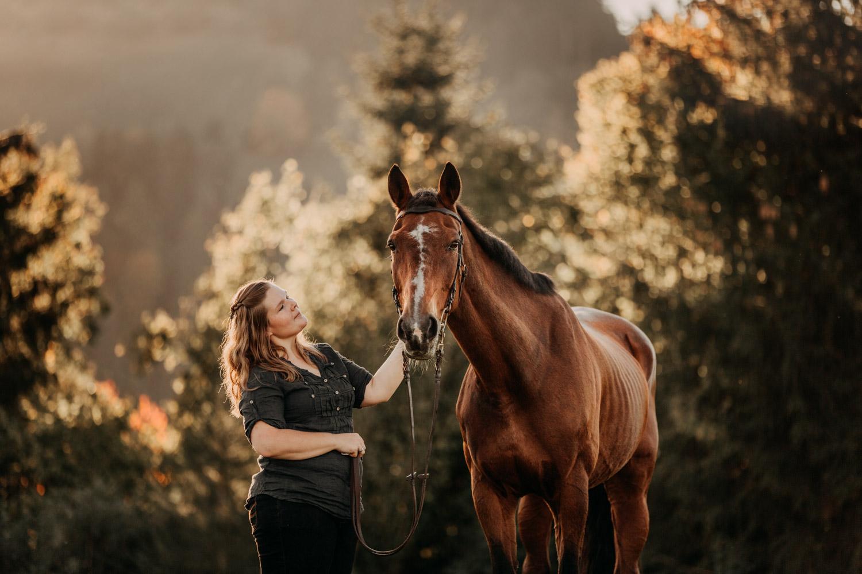 Pferdeshooting in Bern Schweiz Pferdefotografin natürliche Pferdefotos altes Pferd Stute